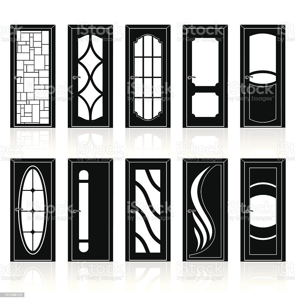Doors Collection vector art illustration