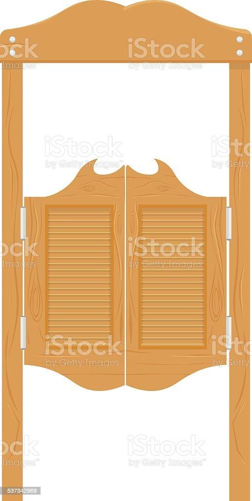 Puertas en occidental cantina salvaje oeste ilustraci n de for Precio de puertas tipo cantina