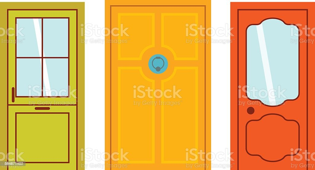 Doors isolated vector illustration. vector art illustration