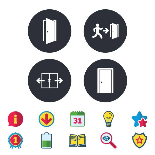 Royalty free automatic door clip art vector images
