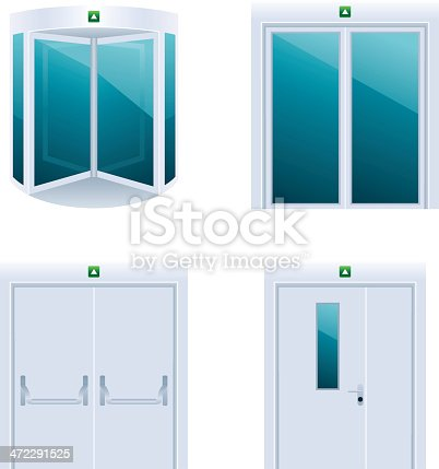 Doors detailed icon set