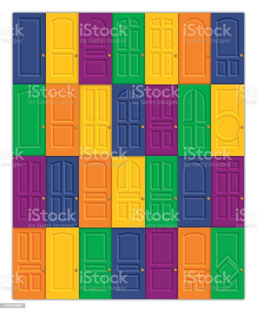 Doors royalty-free doors stock vector art & more images of approaching