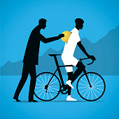 A cyclist is given doping