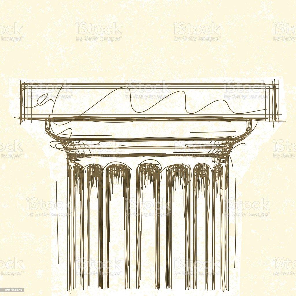Doric Capital royalty-free stock vector art