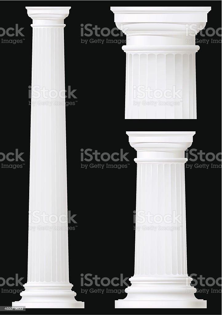 doric column set vector art illustration