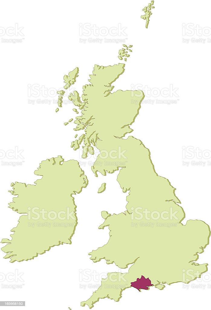 Map Of Uk Dorset.Uk Dorset Map Stock Illustration Download Image Now Istock