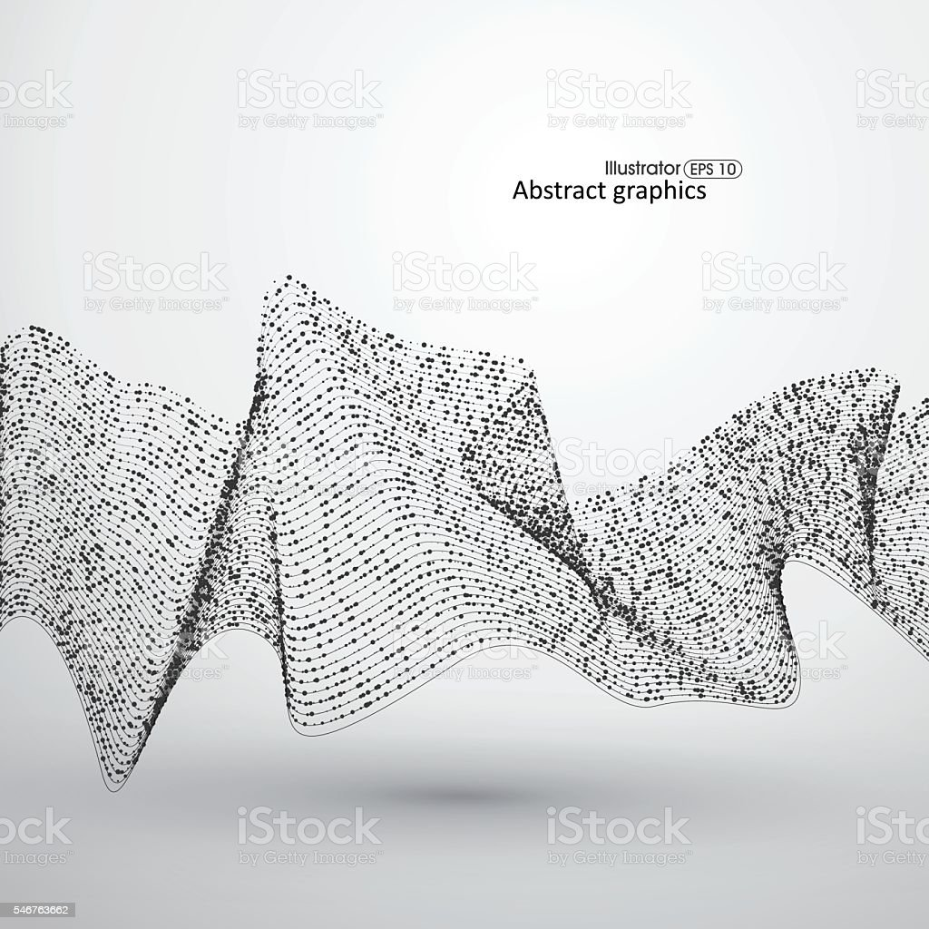 Dot abstract graphics and lines formed. vector art illustration
