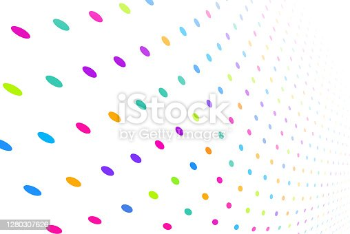 Dot abstract random chance technology tech background pattern.