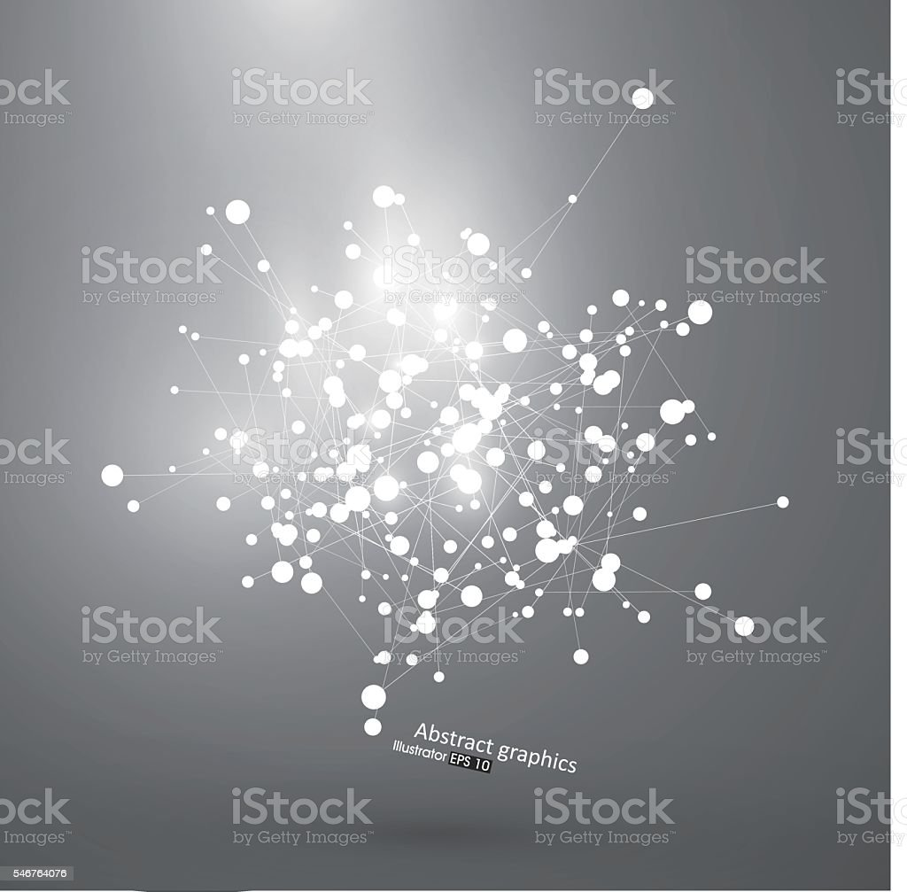 Dot and line consisting of abstract graphics. vector art illustration