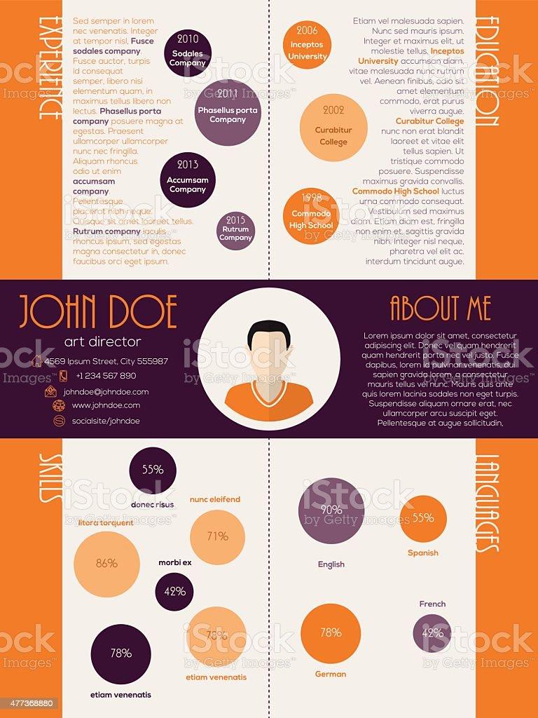 Ilustración de Dot Diseño Curriculum Vitae Reanudar La y más banco ...
