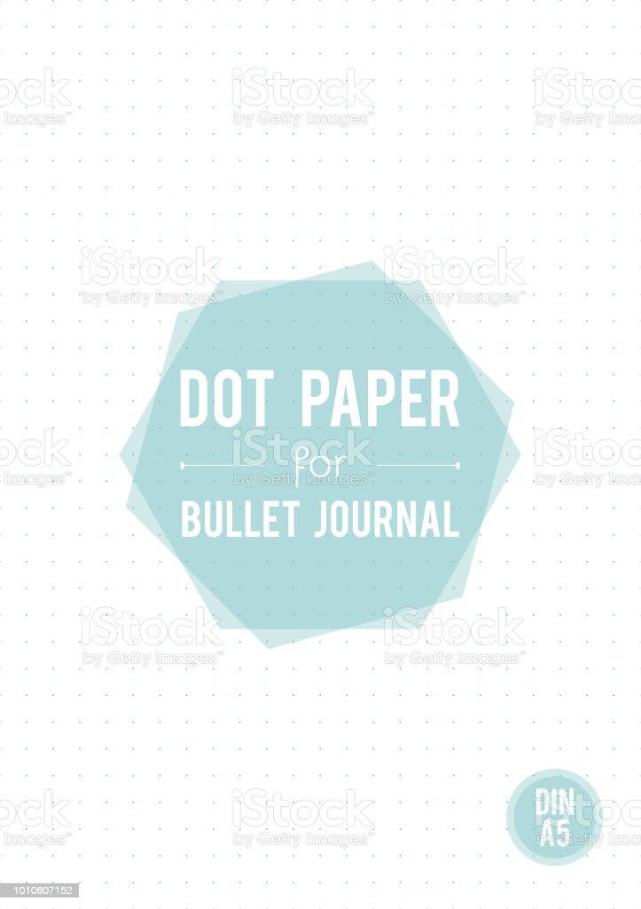 dot grid paper a5 size for bullet journal vector illustration