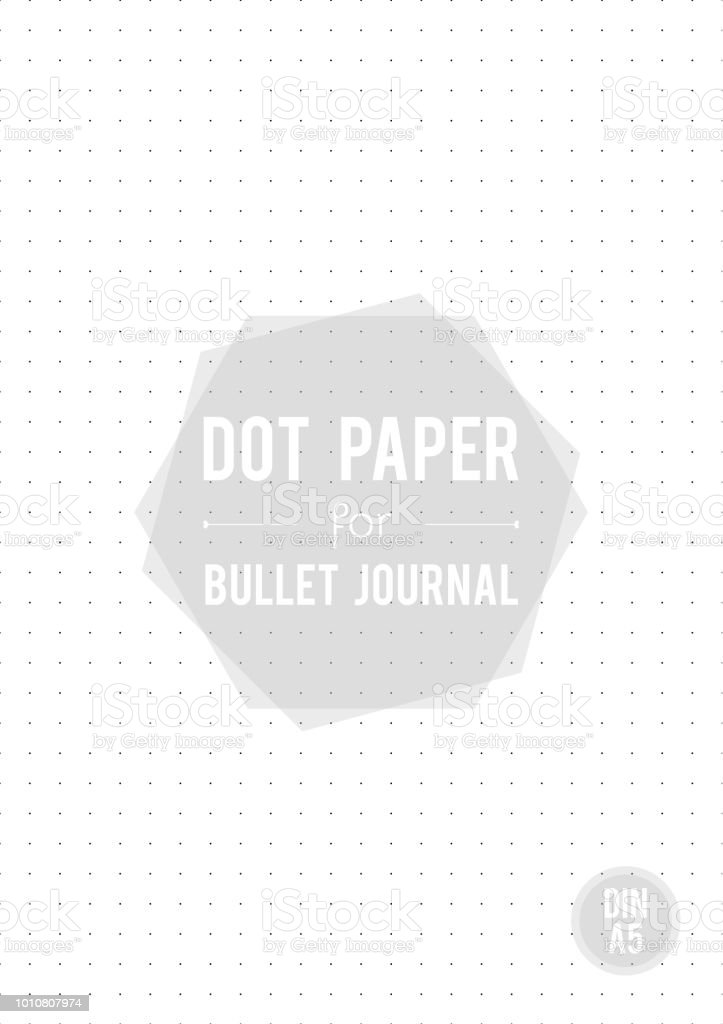 dot grid paper a5 size for bullet journal vector illustration