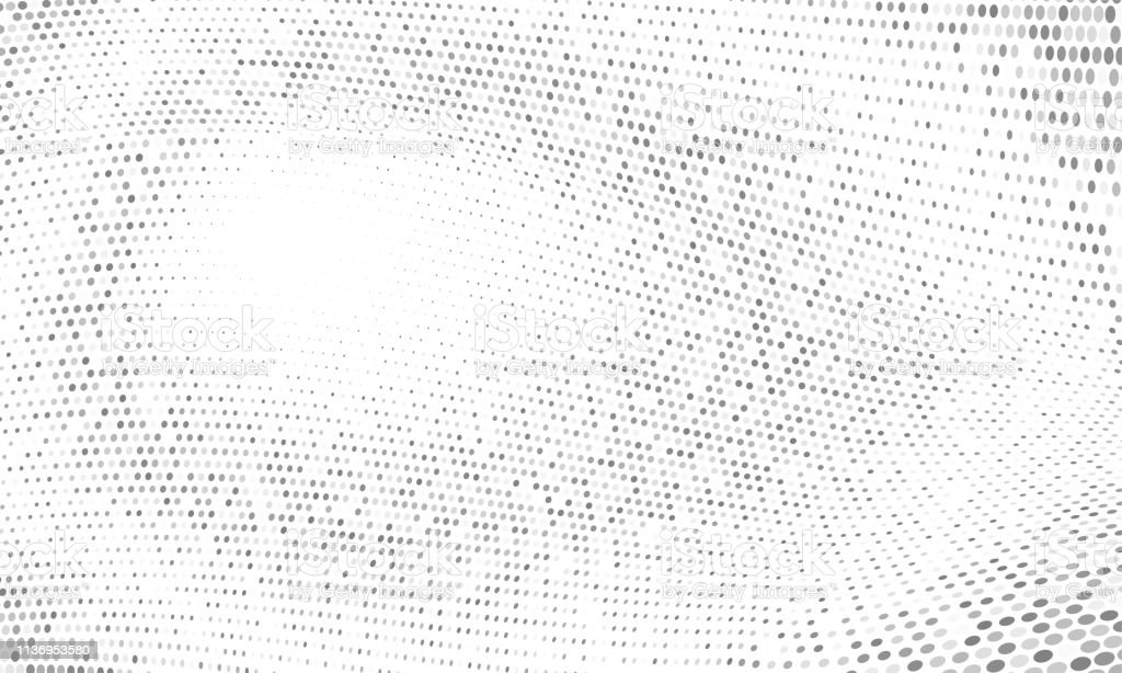 Dot Halftone Gradient Abstract Wave Geometric Pattern Vector