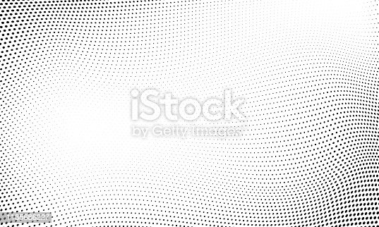 istock Dot halftone pattern background. Vector abstract circle wave grid or geometric gradient texture background 1135686227