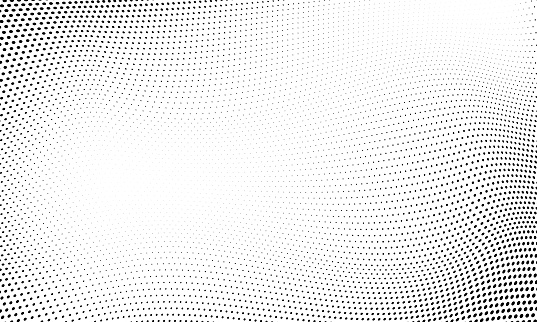 Dot halftone pattern background. Vector abstract circle wave grid or geometric gradient texture background