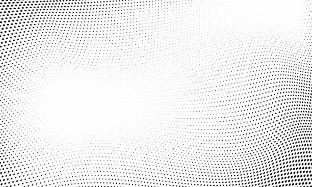 stockillustraties, clipart, cartoons en iconen met achtergrond van stip rasterpatroon. vector abstract circle wave grid of geometrische gradiënt textuur achtergrond - pattern