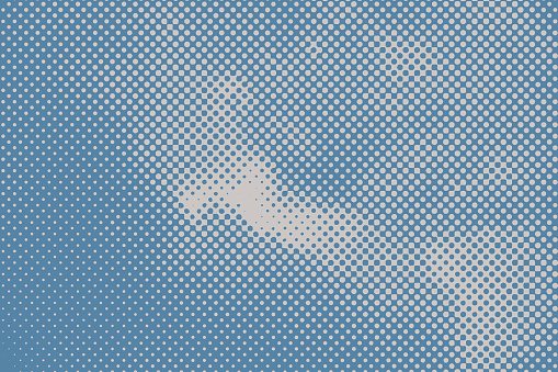 Dot Halftone Pattern of clouds