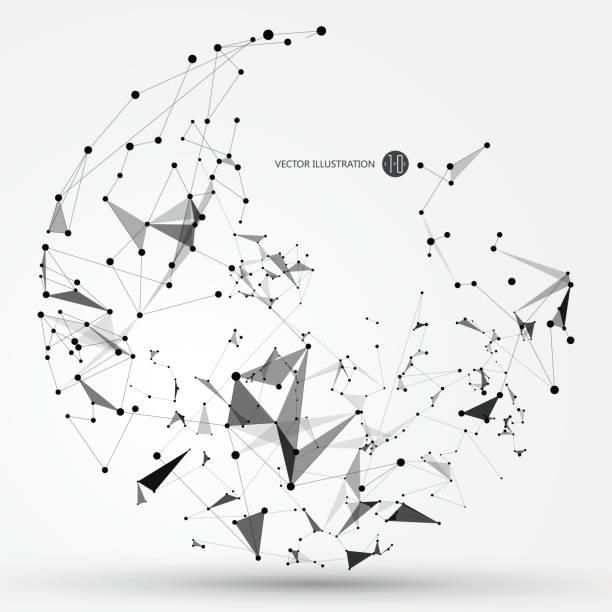 Punkt, Linie und Oberfläche, bestehend aus abstrakten Grafiken. – Vektorgrafik