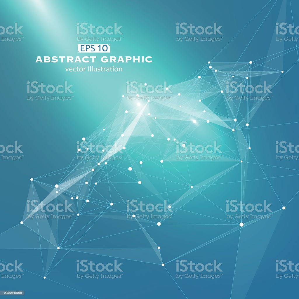 Dot, line and surface consisting of abstract graphics. vector art illustration
