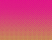 Dot Matrix Halftone Pattern Background