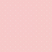 Dot pattern seamless design sweet pink and white. Pastel background vector.