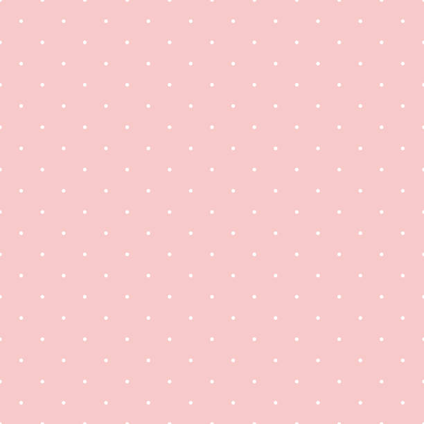 Dot pattern seamless design sweet pink and white. Pastel background vector. Dot pattern seamless design sweet pink and white. Pastel background vector. polka dot stock illustrations