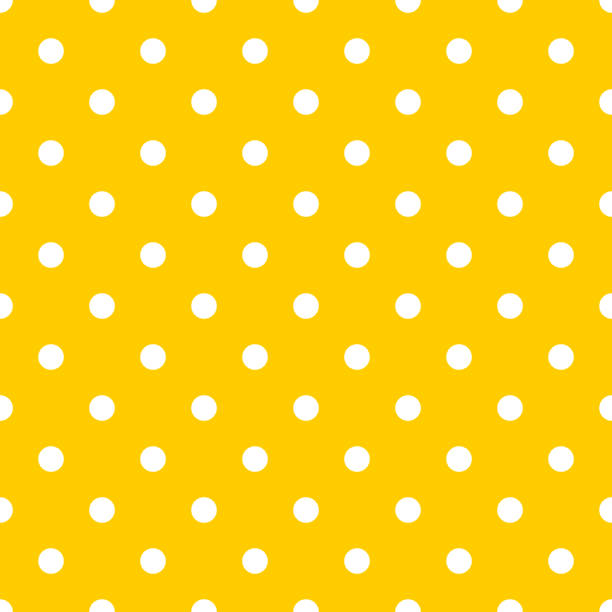 Dot pattern seamless design yellow and white. Pastel background vector. Dot pattern seamless design yellow and white. Pastel background vector. polka dot stock illustrations