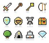 Retro game icon