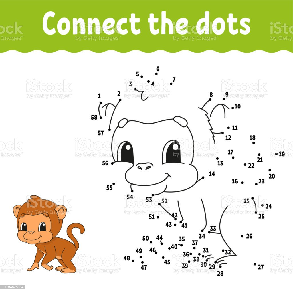 Dot To Dot Draw A Line Handwriting Practice Learning Numbers For Kids  Education Developing Worksheet Activity