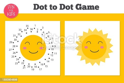 istock Dot to dot game for kids home schooling. Coloring page for children education. 1300954856