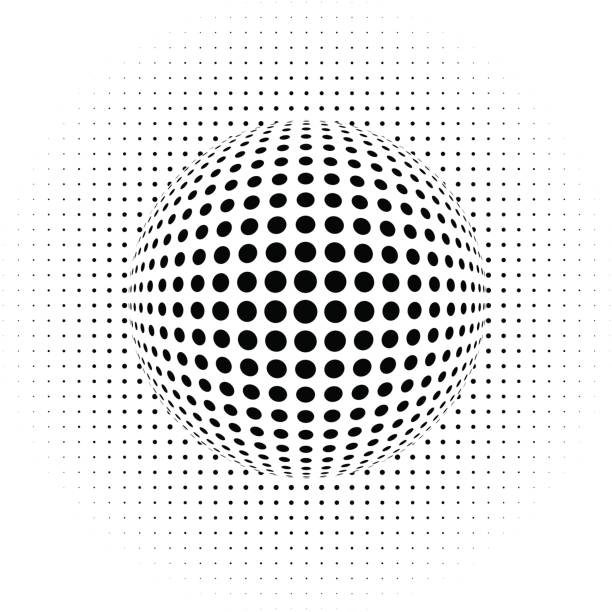Dots - abstract background - optical illusion vector art illustration