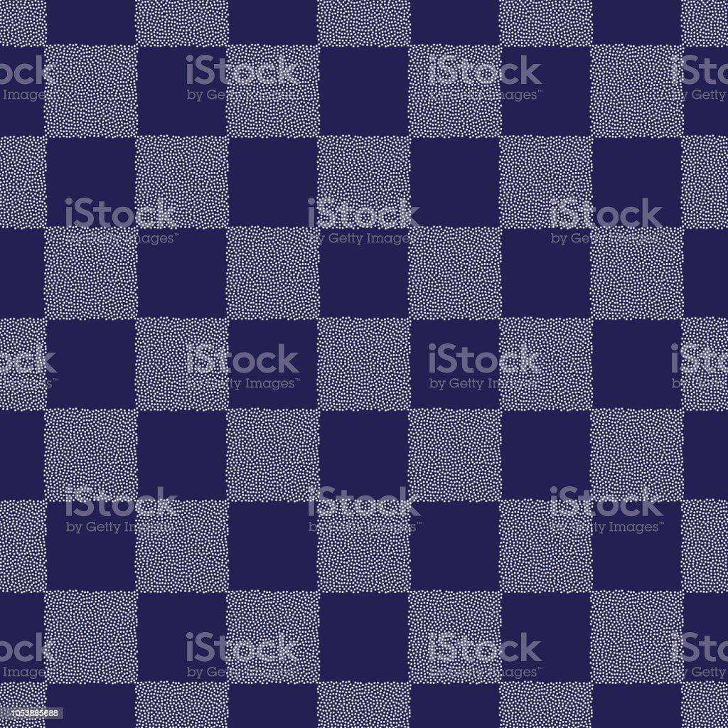 ドット チェス ボード ベクターのシームレスなパターン表面の抽象的な