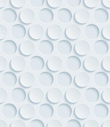 Dots Hexagonal 3D Seamless Wallpaper Pattern.