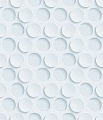 Dots Hexagonal Light Gray Perforated Paper with 3D Effect.