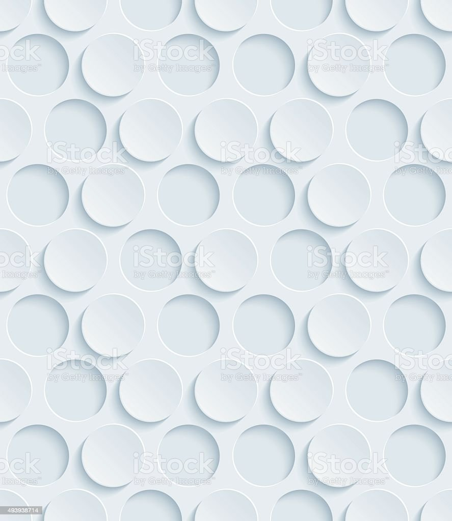 Dots Hexagonal 3D Seamless Wallpaper Pattern. vector art illustration