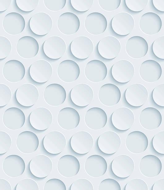 Dots Hexagonal 3D Seamless Wallpaper Pattern. vector art illustration