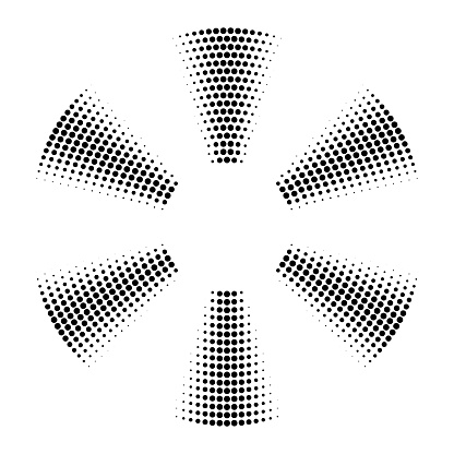 Dots in six turning sections