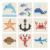 Dots Marine organism