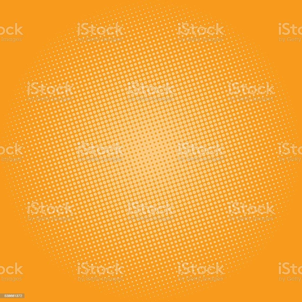 Dots on Yellow Background, Pop Art Background vektör sanat illüstrasyonu