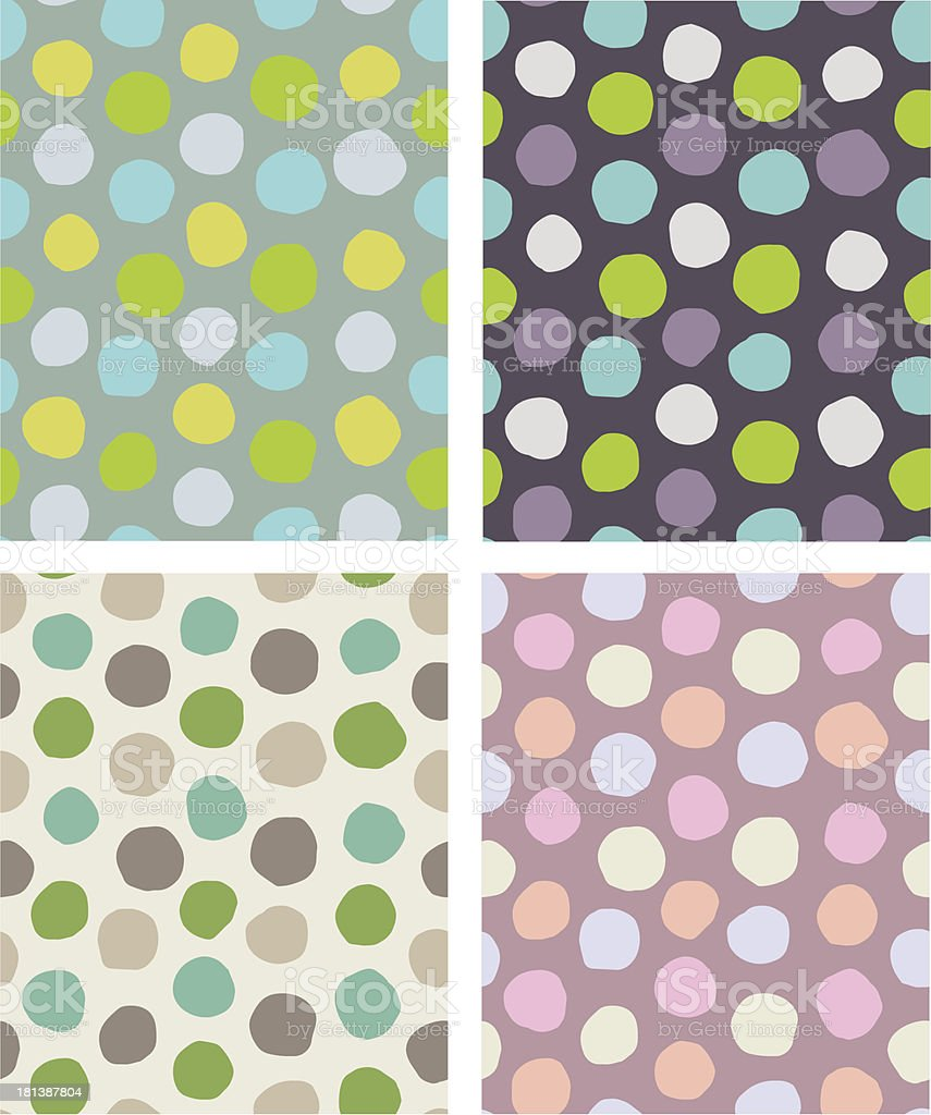 dots pattern set royalty-free stock vector art