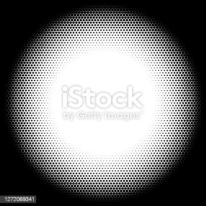 istock Dots, radial size gradient from white to black 1272069341
