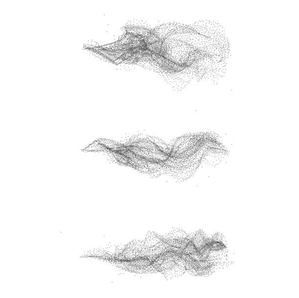 斑點黑色煙霧套裝 - 粒子 幅插畫檔、美工圖案、卡通及圖標