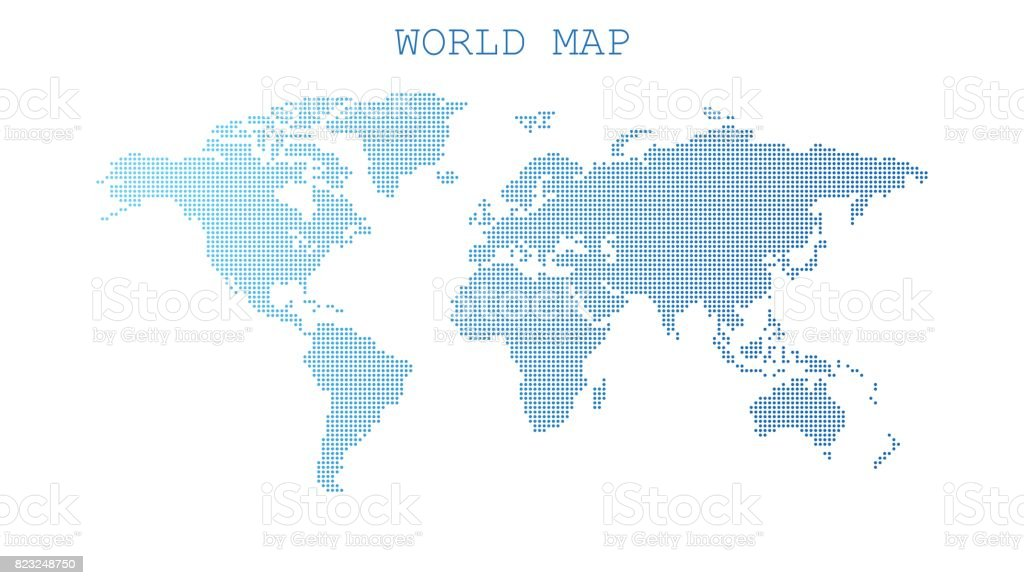 Dotted blank blue world map isolated on white background world map dotted blank blue world map isolated on white background world map vector template for website gumiabroncs Images