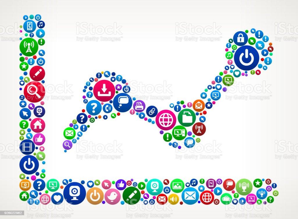 Ilustración de Tabla Puntos Internet Comunicación Tecnología Icono ...