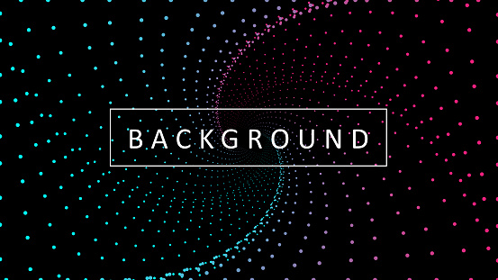 Dotted Circle Gradient Background. Dot Circle. Background for posters, business cards, banners, cover, labels mock-up, stickers layout