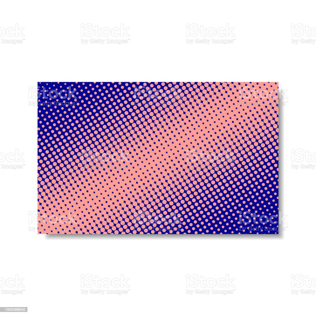 En Pointilles Couverture Rose Et Bleu Isole Sur Fond Blanc Affiche De Demi Teinte