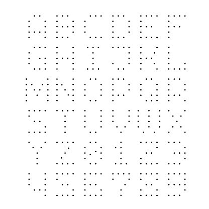 Dotted Font Letters With Small Dots Stock Illustration - Download