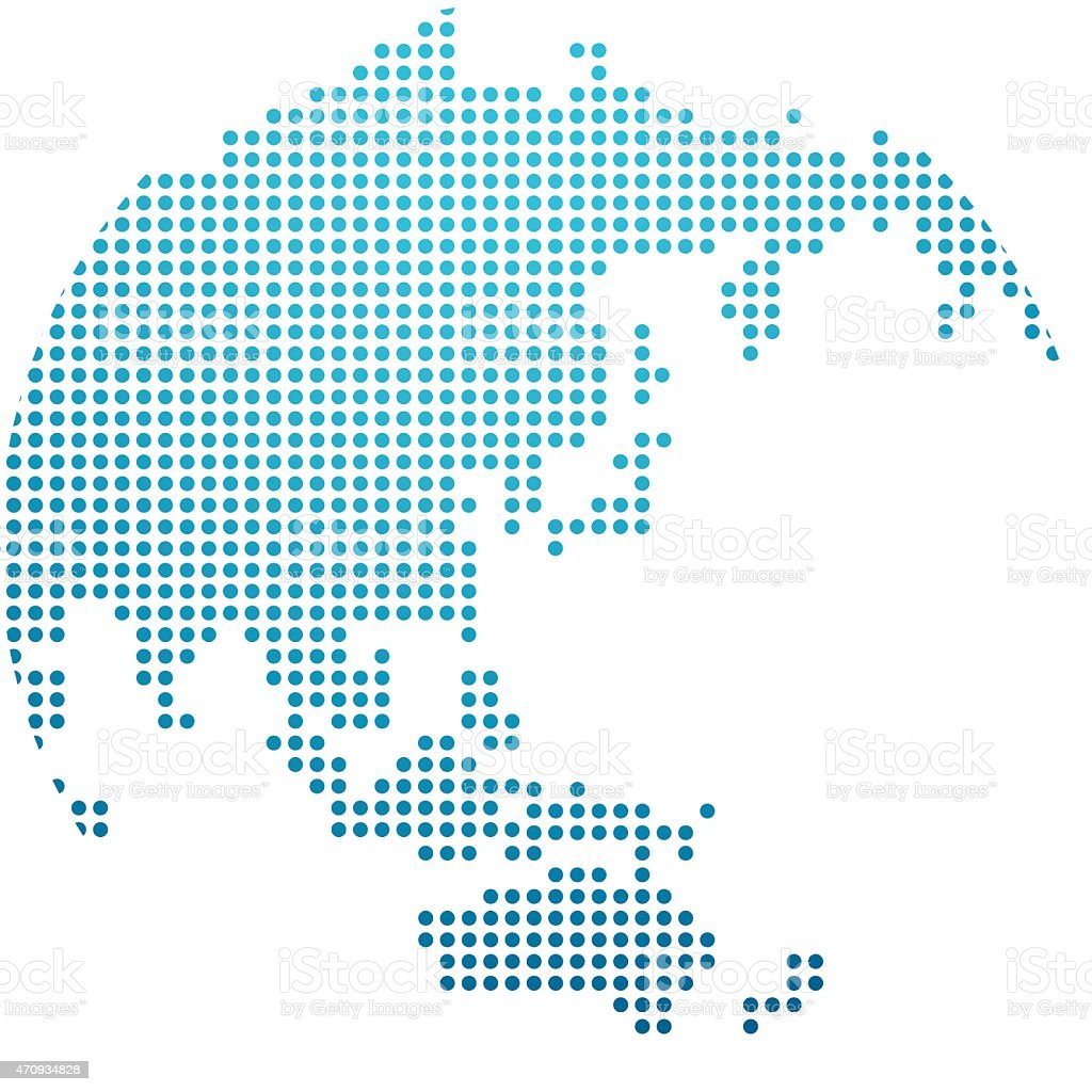 Dotted globe icon vector design vector art illustration