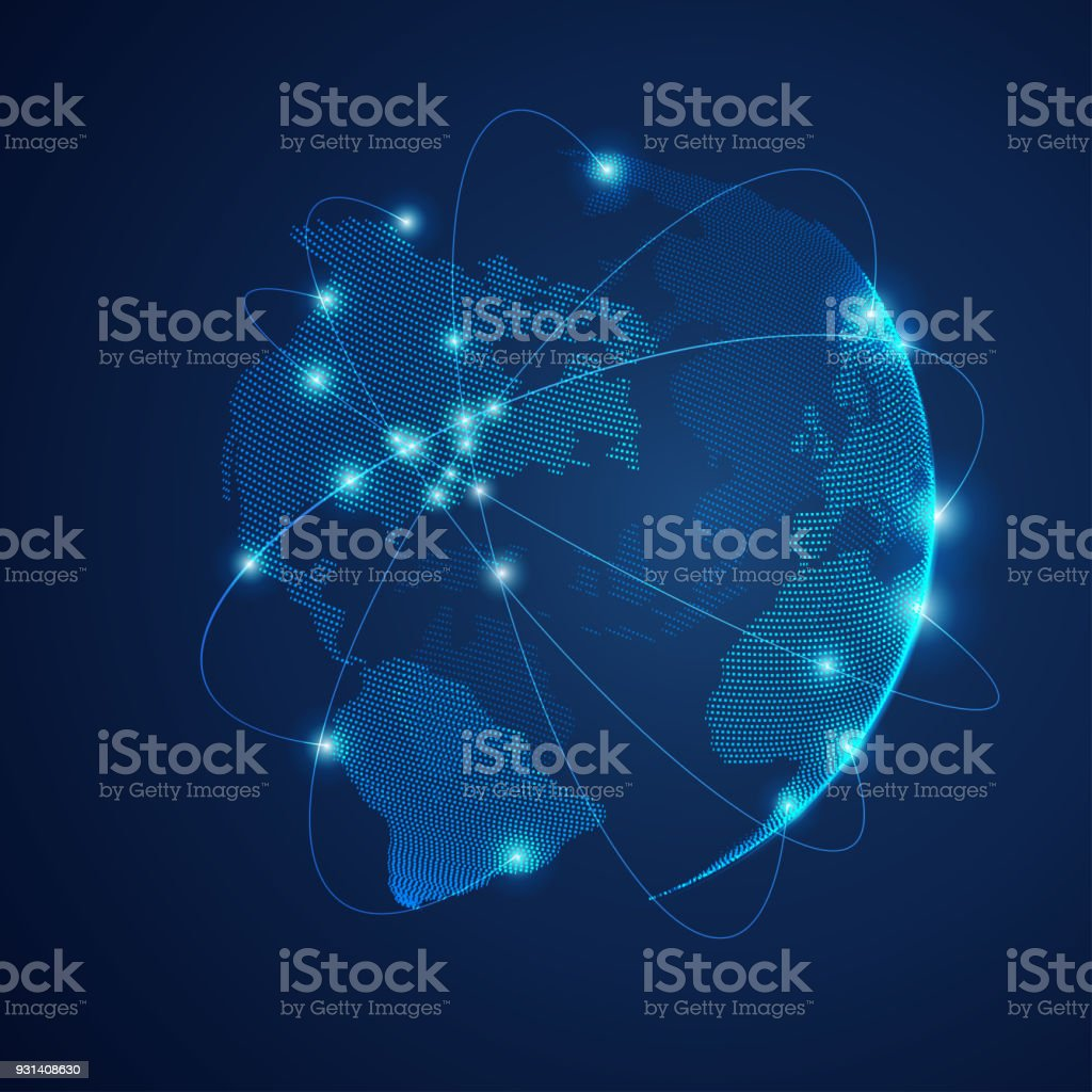 dotted globe royalty-free dotted globe stock illustration - download image now