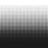 Dotted gradient vector illustration, retro halftone dots texture backdrop